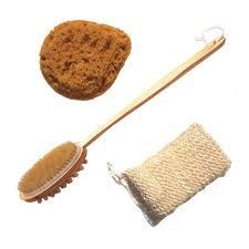 bath sponge wooden back brush sisal luffa scrubber set best bath