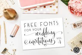 wedding invitations font free fonts for diy wedding invitations volume 4