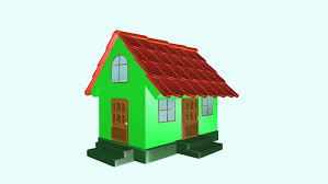 house animated animated construction building of cartoon block house falling