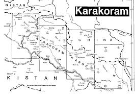 Pakistan On The Map Karakoram Mountain Range Map Trekking Karakoram Map Pakistan