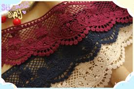 navy lace ribbon 7cm cotton lace ribbon sewing fuchsia navy blue beige water