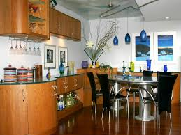 elegant kitchen linear lights features blue pendant lamps and