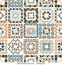 vector tribal ethnic seamless pattern aztec stock vector 471992524