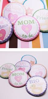 baby shower things baby shower party buttons and baby things baby favors and things