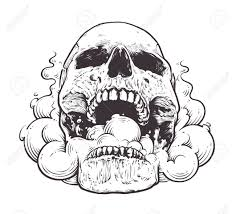 skull style vector illustration of skull with