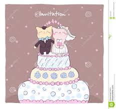 Invitation Card With Photo Wedding Invitation Card With Cute Cats Royalty Free Stock