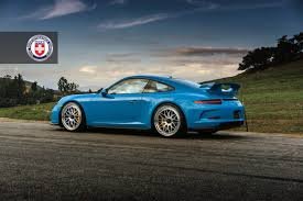 blue porsche 911 porsche 911 gt3 991 on hre classic 300 in mexican blue big euro