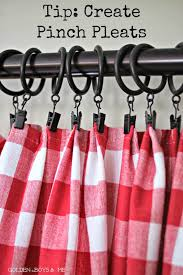 golden boys and me turning tablecloths into window treatments