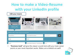 How To Make A Quick Resume How To Make A Video Resume With Your Linked In Profile Resu Me Tool