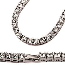 white gold fashion necklace images 2017 new iced out men lady tennis necklace fashion cubic zirconia jpg