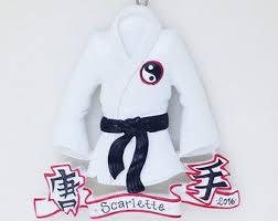 karate ornament etsy