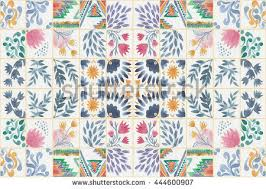 tiled background ornaments watercolor tile stock
