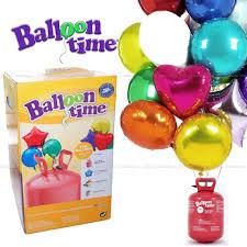 balloon helium tank balloon time kids party kit helium tank 15 foil balloons