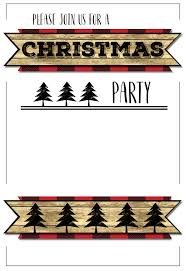 christmas party invitation templates free printable paper trail