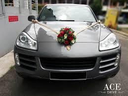 porsche cayenne gold porsche cayenne s wedding car decorations