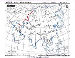 Asia Rivers Map by Priyankar Talking Map Pointing Asia