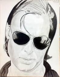 shoaib akhtar portrait sketch