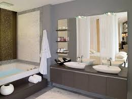 oval bathroom mirror ideas green glass tile backsplash beige
