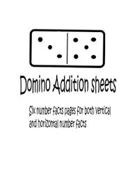 domino addition sheets by lori teacher turned mommy tpt