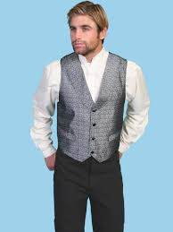scully mens print shawl lapel formal western vest