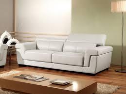 canapé 3 places cuir blanc canapé 3 places en cuir evasion