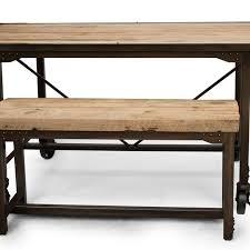 hand made custom farmhouse reclaimed wood u0026 steel dining table