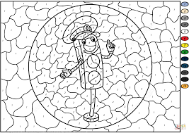 traffic light color by number and coloring page glum me