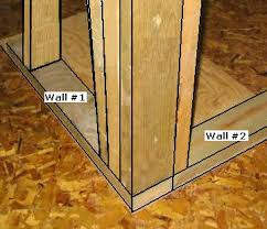 how to frame a wall corner how to build a corner wall for the