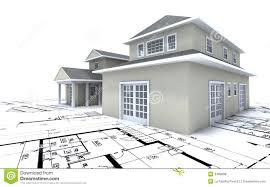 residential blueprints expensive house on blueprints stock illustration image 3409608