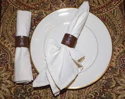 dinner party hostess gift leather napkin rings etsy