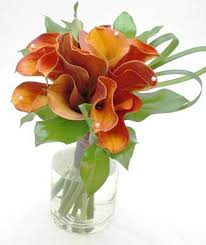 cala lillies calla bouquet additional colors available eggplant