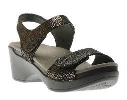 dansko sonnet black shimmer 9845 00200 women u0027s sandal shoes