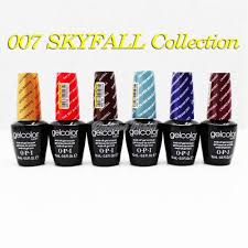 limited opi gelcolor skyfall 007 sky fall collection uv gel nail