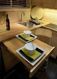 Kitchen Table Small Space by Great Space Saving Idea The Built In Kitchen Table Shown Left