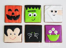 Decorated Halloween Sugar Cookies by Halloween Cookies No Cutter Required Lilaloa Halloween
