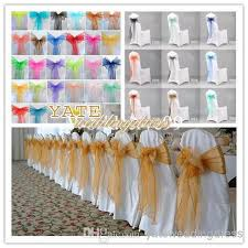 cheap chair covers and sashes 2017 cheap wedding decorations organza bow chair cover sash bow