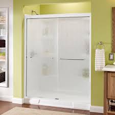 Make Your Own Shower Door Delta Simplicity 60 In X 70 In Semi Frameless Sliding Shower