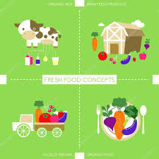 drink vector flat design icons for organic food and drink u2014 stock vector