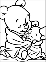 baby winnie pooh baby piglet coloring wecoloringpage
