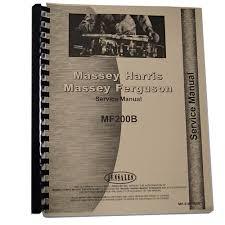 new massey ferguson 200b crawler service manual 322556010124