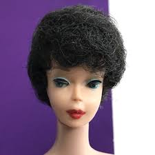 bubble cut hairstyle vintage barbie early bubblecut doll tight raven hair 1961 850