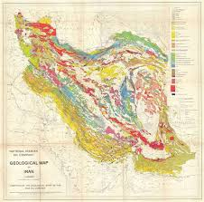map or iran national iranian company geological map of iran geographicus