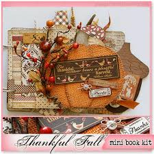 photo albums scrapbooks gogo girl scrapbooking kit mini album thanksgiving thankful fall