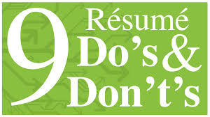 resume hints and tips resume do s and don ts youtube