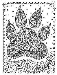 coloring page tiger paw instant download dog paw print you be the artist dog instant