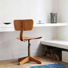 chaise de bureau en bois à 5 chaises de bureau rétro menuiserie parquet babin