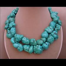 real turquoise necklace images Reducedgenuine turquoise necklace ala megan fox poshmark jpg