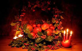thanksgiving wall papers apples hawthorn candles basket composition thanksgiving wallpaper