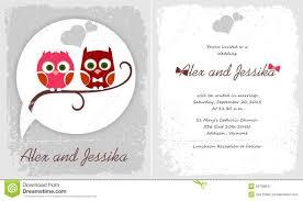 happy wedding invitation with owl stock illustration image 56706841