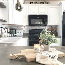Kitchen Designs With Black Appliances by Farmhouse Kitchen The Little White Farmhouse Blog Pinterest